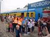 Pociąg relacji Kcynia – Nakło n/Not. – Więcbork - Chojnice na stacji PKP Więcbo