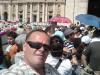 Tomasz Bracka na audiencji generalnej z Benedyktem XVI na Placu Świętego Piotra w Watykanie