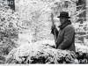 Marszałek II RP Edward Rydz Śmigły na polowaniu w więcborskich lasach